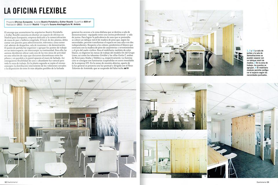 Oficinas en Madrid publicadas en la Revista Diseño Interior nº234 ...